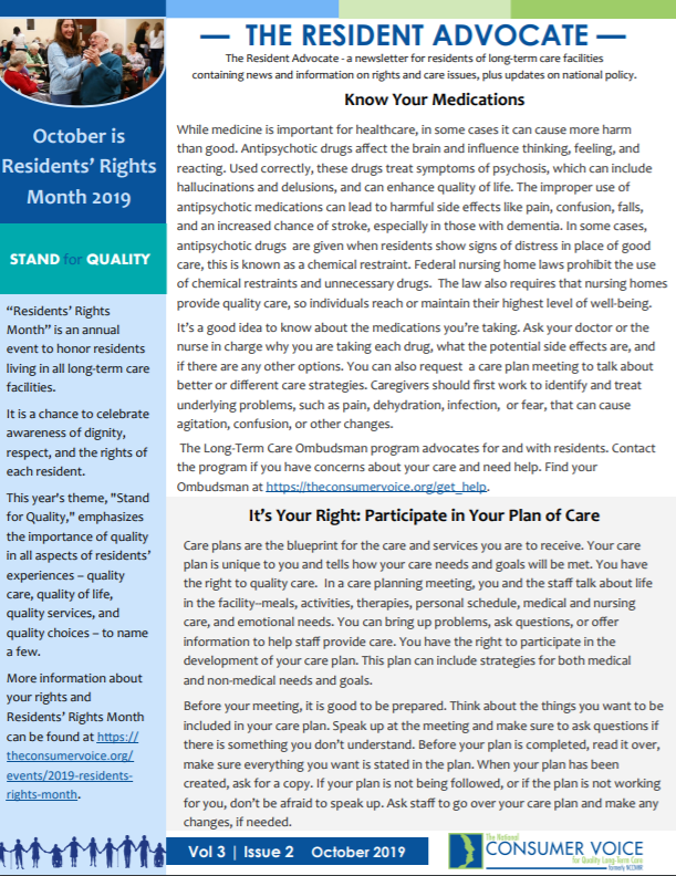 Resident Advocate Issue